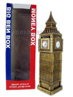 Tb London Big Ben Money Box Made Of Plastic With Metal Parts