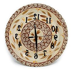 Temp-tations Custom Made Wall Clock Stoneware - Round Dinner