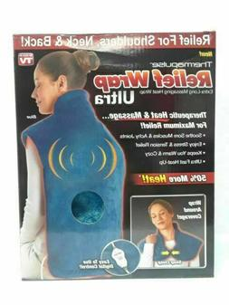 THERMAPULSE RELIEF WRAP ULTRA EXTRA-LONG MASSAGING HEAT WRAP
