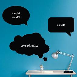 Thought Bubbles Chalkboard Wall Decals - Set of 3 - Speech B