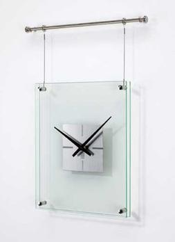 Umbra Trapeze Steel and Glass Wall Clock