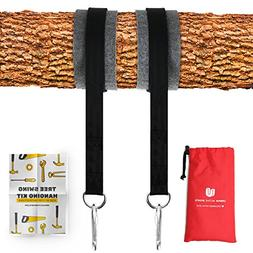 Tree Swing Hanging Kit  Holds 2200 LBS Extra Long 10 ft Stra