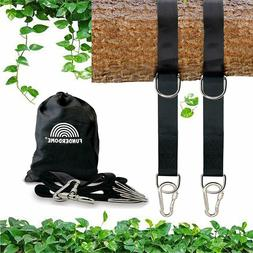 Tree Swing Straps Hanging Kit Holds 4000 lbs, Set of Two 5ft