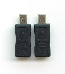 Twin Pack - Micro USB  to Mini USB  Adapter for GoPro Camera