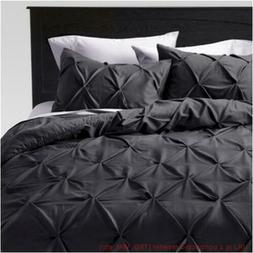 Twin Extra Long 2pc Pinched Pleat Comforter Set Dark Gray -