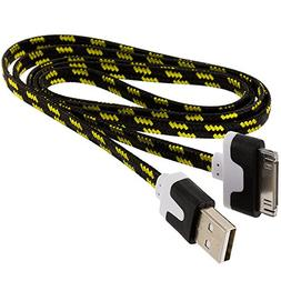 TechSpec USB Braided Rope Heavy Duty Sync Data Cable Cord 3F