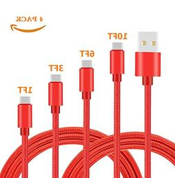 USB Type C Cable,Nylon Braided USB Type C Long Cord Fast Cha
