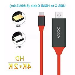 4K USB C to HDMI Cable , MOPO no need to set up usb-c to hdm