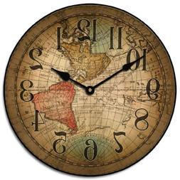 Vincenzo World Map Wall Clock, Available in 8 sizes, Most Si