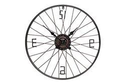 """Special T Imports 28"""" Vintage Style Bicycle Wheel Wall Clock"""