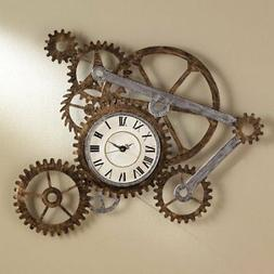 Vintage Clocks For Walls Industrial Wall Clock With Gears Eu