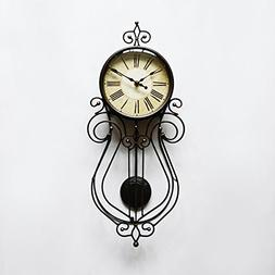 8-Inch Vintage Swing Wall Clock, Pendulum Clock