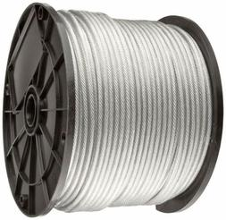 Vinyl Coated Stainless Steel 304 Cable Wire Rope 7x19, Clear