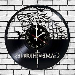 Vinyl wall record clock The game of thrones