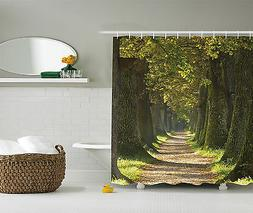 Vivid Decor Alley with Oak Trees Scenic Perspective Extra Lo