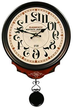 HDC International 05-0079 Wall Clock, Off-White, Central Sta