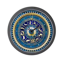 Wall Clock Blue Marble Zodiac Horoscope Signs