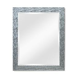 Wall Beveled Mirror Framed - Bedroom or Bathroom Rectangular