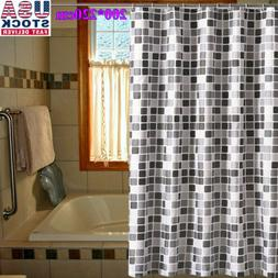 Waterline Fabric Shower Curtain Mosaic Extra Long Wide Drop