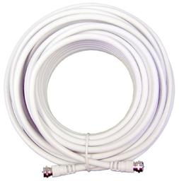 weBoost 30' White RG6 Low Loss Coax Cable - Retail Packaging