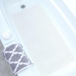 White Comfort Foam Bath Mat: Extra Long Soft In-Tub Mat by S