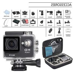 OnLyee Full HD 1080P WiFi 2.0 Inch 170° Waterproof Diving A