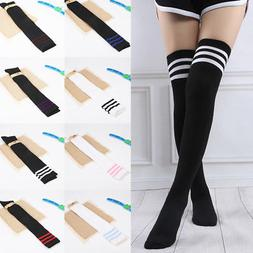 Women Boot Socks Over Knee Thigh High Extra Long Socks Black