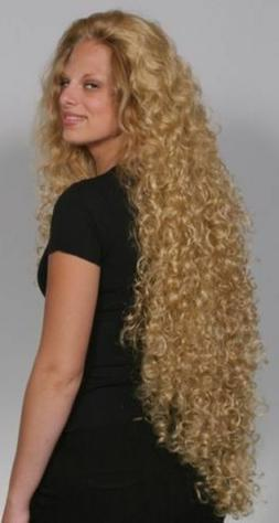 "WOMENS 39"" SUPER EXTRA LONG SPIRAL CURL CURLY NO BANGS WIG E"