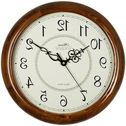 Hense 14-Inch Large Wood Wall Clock Retro Vintage Style Deco