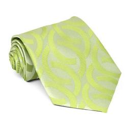 XL Apple Green Kay Link Pattern Extra Long Necktie
