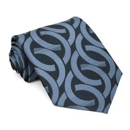 XL Dark Blue Kay Link Pattern Extra Long Necktie