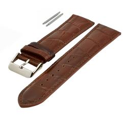 XL  LEATHER WATCH BAND CROCO PADDED LONG SIZE 18MM - 24MM
