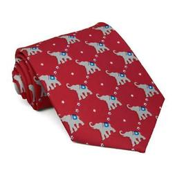 XL Men's Republican Elephant Extra Long Necktie
