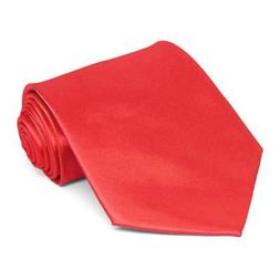 XL Poppy Extra Long Solid Color Necktie