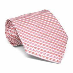 "XXL Perfect Pink George Plaid Extra Long Necktie, 67"" Length"