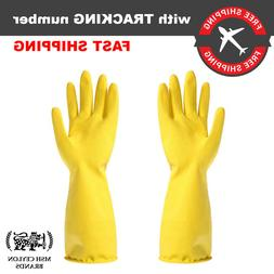 Yellow Gloves Deep Sink Extra Long Latex Rubber Household Wa