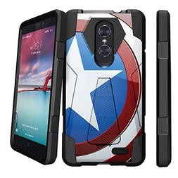 ZTE Zmax Pro Hybrid Case   Slim Fitted Heavy Duty Kickstand